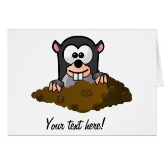 Mole cartoon card