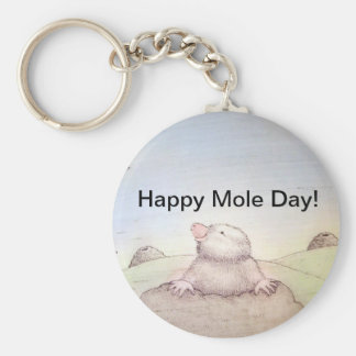 Mole Day Keychain