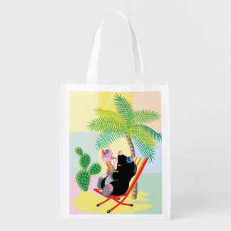 mole on the beach reusable grocery bag
