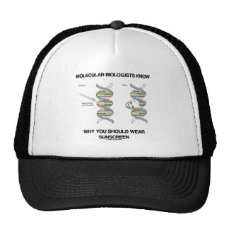 Molecular Biologists Know Why You Wear Sunscreen Trucker Hat