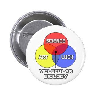 Molecular Biology .. Science Art Luck 2 Inch Round Button