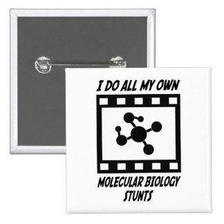 Molecular Biology Stunts 2 Inch Square Button