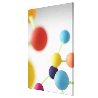 Molecular structure. canvas print