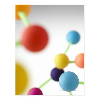 Molecular structure. postcard