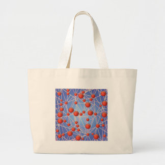 molecular texture large tote bag