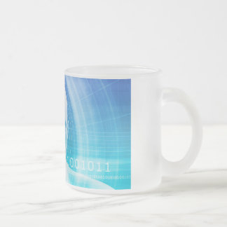 Molecule Background as a Science Abstract Concept Frosted Glass Coffee Mug