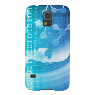 Molecule Background as a Science Abstract Concept Galaxy S5 Cases