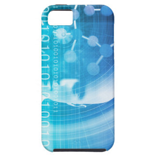 Molecule Background as a Science Abstract Concept iPhone 5 Case