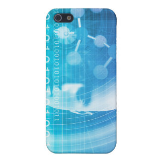 Molecule Background as a Science Abstract Concept iPhone 5 Cases