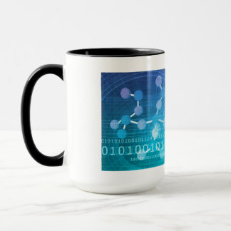 Molecule Background as a Science Abstract Concept Mug