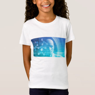 Molecule Background as a Science Abstract Concept T-Shirt