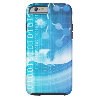 Molecule Background as a Science Abstract Concept Tough iPhone 6 Case
