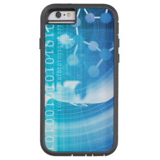 Molecule Background as a Science Abstract Concept Tough Xtreme iPhone 6 Case