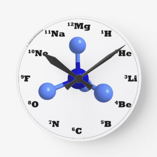 Molecule Clock - Blue