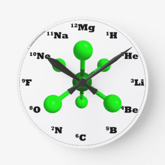 Molecule Clock - Green