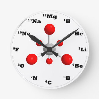 Molecule Clock - Red