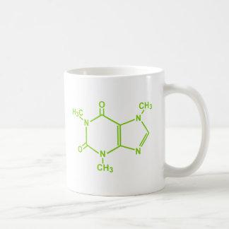 Molécule de caféine mug blanc
