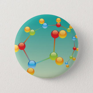 Molecule Vector glossy 2 Inch Round Button