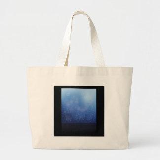 molecules background large tote bag