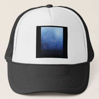 molecules background trucker hat
