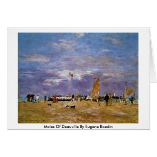 Moles Of Deauville By Eugene Boudin Card
