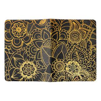 Moleskine Notebook Cover Floral Doodle Gold G523