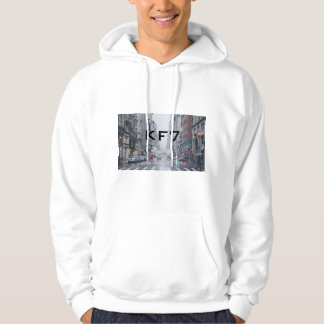 Moletom with white pointed hood New York City KF7 Hoodie