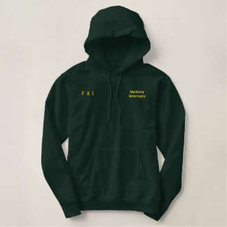 Moleton c university pointed hood embroidered hoody