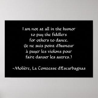 Molière - payez le violoneur poster