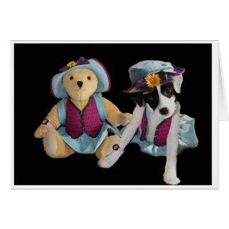 Molly and Friend Bear Card