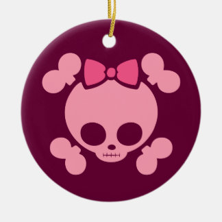 Molly Bow Pink Ceramic Ornament