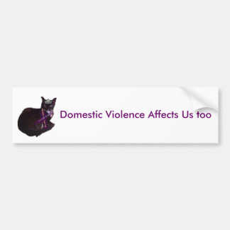 molly, Domestic Violence Affects Us too Bumper Sticker