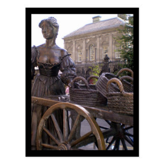 molly malone in dublin postcard