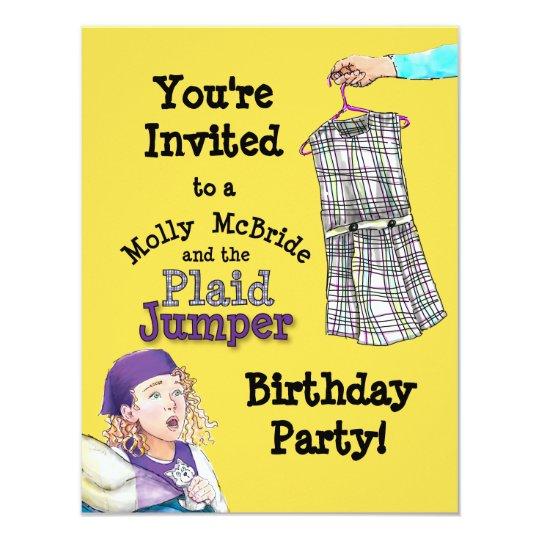 Molly McBride Plaid Jumper Party Invite