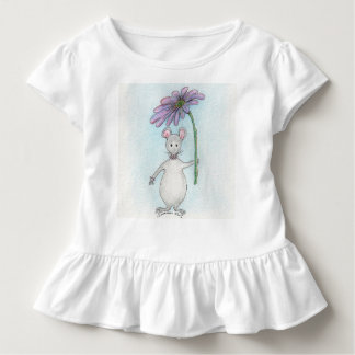 Molly Mouse Pink and Purple Ruffled Toddler Tee