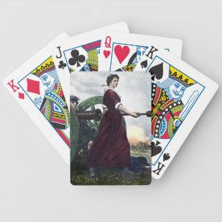 Molly Pitcher - Revolutionary War Patriot Bicycle Playing Cards