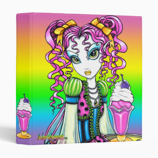 """Molly"" Sherbet Ice Cream Rainbow Fairy Binder"