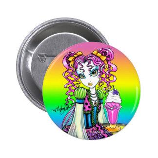 """Molly"" Sherbet Ice Cream Rainbow Fairy Button"