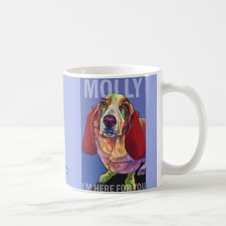 Molly the Basset Therapy Dog Mug by Ron Burns