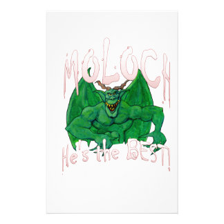 Moloch:  He's the BEST! Customized Stationery