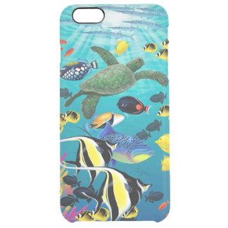 Molokini Cove Hawaiian Tropical Fish Illustration Clear iPhone 6 Plus Case