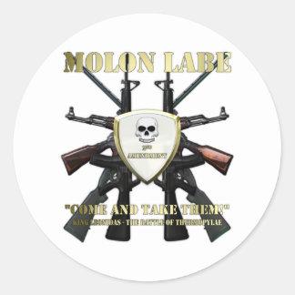 Molon Labe - 2nd Amendment Round Sticker