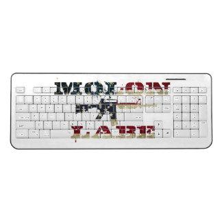 Molon Labe American Flag Wireless Keyboard