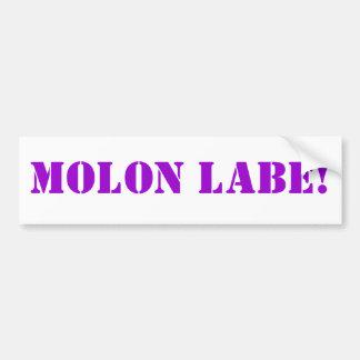 MOLON LABE! BUMPER STICKER