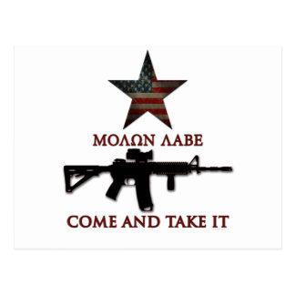 Molon Labe - Come And Take It Postcard