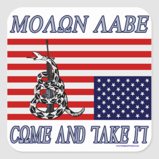 Molon Labe - Come and Take Square Sticker