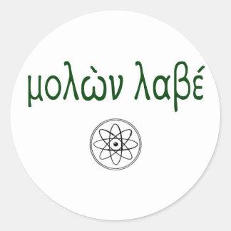 Molon Labe (Come and Take Them) Lower case Round Sticker