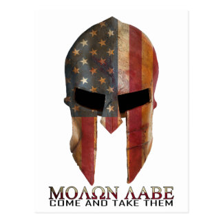Molon Labe - Come and Take Them USA Spartan Postcard