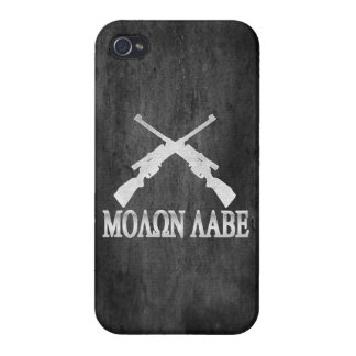 Molon Labe Crossed Rifles 2nd Amendment iPhone 4/4S Covers