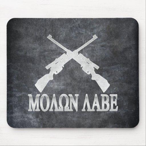 Molon Labe Crossed Rifles 2nd Amendment Mouse Pad